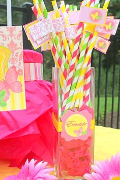 BUTTERFLY Party - FLAGS- Birthday - Bridal Shower