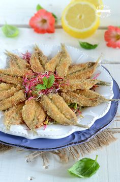 Breaded anchovies without frying, quick recipe- Alici impanate senza friggere, ricetta veloce Breaded anchovies without frying - Seafood Dishes, Fish And Seafood, I Love Food, Good Food, Fish Pasta, Baked Cod, Shellfish Recipes, Antipasto, Quick Recipes