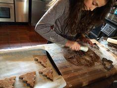 my friend Lulu making gingerbread