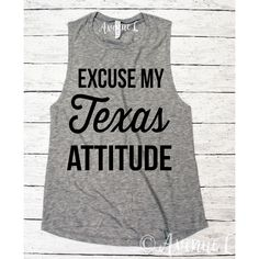 Excuse My Texas Attitude Muscle Tank Texas Shirt ($22) ❤ liked on Polyvore featuring tops, black, tanks, women's clothing, checked shirt, checkered pattern shirt, check pattern shirt, checkered shirt and muscle tank