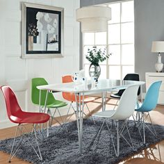 """Simple yet sophisticated, the Paris Dining Chair from Steel 