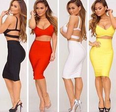 b1e51b90b86 Summer Dresses for Womens Two Piece Outfits 2016 Sexy Bodycon Knee