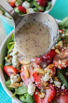 Healthy Salads, Healthy Eating, Healthy Recipes, Taco Salads, Salad Dressing Recipes, Salad Recipes, Salad Dressings, Poppyseed Salad Dressing, Spinach Recipes
