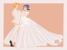 (Miraculous Ladybug) Adrien & Marinette Wedding