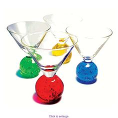 These stay really cold! Cool Glasses, Drinkware, Punch Bowls, Kids Meals, Martini, Bubbles, Tableware, Cold, Bar