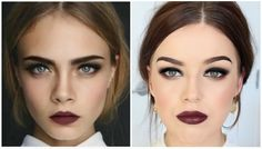 Cara Delevingne Inspired Makeup Tutorial || Smokey Eyes & Dark Lips