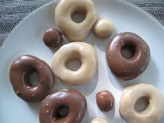 Recipe: Baked and Glazed Mini Whole-Wheat Donuts  http://thecreamline.wordpress.com/2010/08/16/time-to-bake-the-donuts/