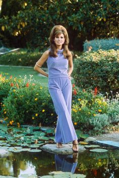 Pin-up Raquel Welch may be best-known for her fur bikini in the 1966 film One Million Years B.C, but off screen she worked an even more glamorous look, with pantsuits, Pucci prints, and sex kitten hair.