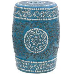 Oriental Furniture Medallion Porcelain Garden Stool | Wayfair #home #decor #lovely #inspiration #oriental #furniture