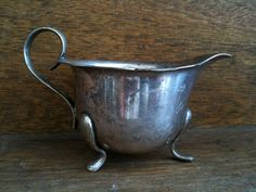 Vintage English Silver Coloured Metal Creamer Purchase in store here http://www.europeanvintageemporium.com/product/vintage-english-silver-coloured-metal-creamer/