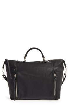 Phase 3 Belted Faux Leather Satchel