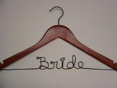 hanger for the wedding dress