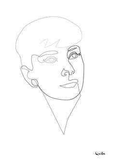 Quibe - One Line Audrey Hepburn