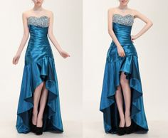 I like this formal high low dress very much! everything looks perfect, the color, the bodice and the diamonds.