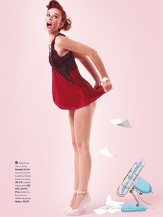 Revista A - Ensaio Pinups by Werner Cunha, via Behance One Shoulder, Shoulder Dress, Pin Up Girls, Behance, Illustrations, Dresses, Fashion, Cunha, Vestidos