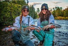 Girl Porwer Troutfishing Flyfishing