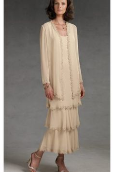 mother of the groom dresses tea length - Google Search