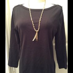 LOFT mixed media tassel necklace LOFT necklace features woven chain, beads, fringe and a cool ultra suede tassel.   Endless style possibilities....work chic and weekend ready! LOFT Jewelry Necklaces