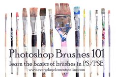 Tutorials dedicated to Photoshop and PSE brushes on Everyday Elements Online