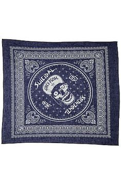 The Flip Cap Skull Bandana in Navy by Obey. This bandana from #Obey features a poetic display of the brand's philosophy. $15