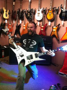 GoDpsMusic playing Michael Angelo Batio's double guitars! Clinic on July 2013 #michael #guitars #music