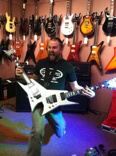 GoDpsMusic playing Michael Angelo Batio's double guitars! Clinic on July 2013 #michael #guitars #music