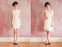 Short Elegant Dresses | elegant lace wedding dress short Short Wedding Dresses