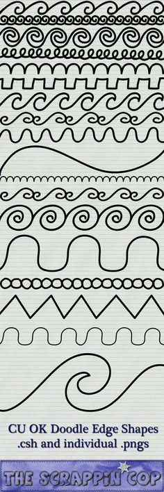 Doodled Edge Custom Shapes by debh945.deviantart.com on @deviantART