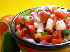 El Chico s Salsa Fria from Food.com:   I can't remember if this is a copycat or if I got this from the cook, but I have most of the El Chico recipes from working there and Im almost certain this is authentic. AKA: PICO DE GALLO