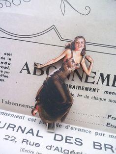 Barrette en bois, femme Rétro, idéale pour sublimer une coiffure ! Original!