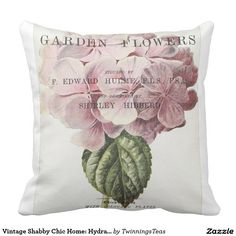 Vintage Shabby Chic Home: Hydrang Throw Pillows