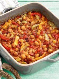 revithia-fournou-me-piperies-ANOIGMA Cooking Art, Greek Cooking, Cooking Recipes, Greek Recipes, Quick Recipes, Vegetarian Recipes, Healthy Recipes, Appetisers, Food Network Recipes