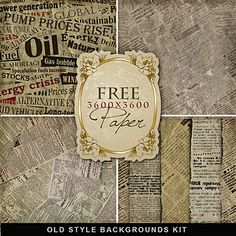 Freebies Old Style Backgrounds Kit