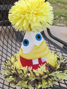Spongebob birthday party hat by stacielutes on Etsy, $26.00