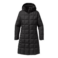 Patagonia Women\'s Down With it Parka - Black BLK600 600 fill power