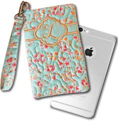 Beautiful Mobile Phone Wristlet cases - made right 'in the hoop' of your embroidery machine! 5x7 and larger hoops. www.PicklePieDesigns.com