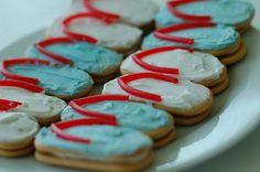 Swim party cookies