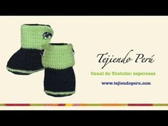 Botitas en crochet para bebe de 0 a 3 meses (Parte 4: lengüeta y acabados) - YouTube