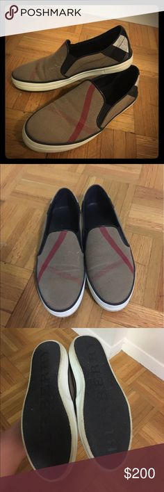Burberry Slip on Sneakers Used like new, only worn 3x Burberry slip on sneakers flats Burberry Shoes Sneakers