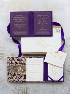 Ornate Purple and Gold Inspired by St. Catherine's Palace in Russia