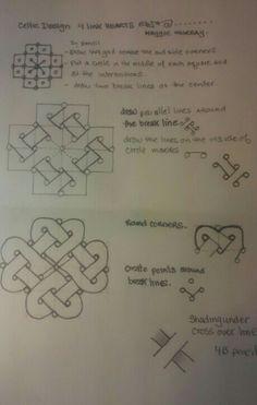 Celtic Drawings, Zentangle Drawings, Doodles Zentangles, Celtic Patterns, Doodle Patterns, Zentangle Patterns, Celtic Symbols, Celtic Art, Celtic Knots