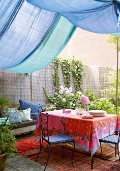 colorful outdoor party