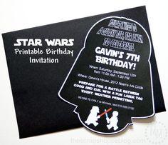 Star Wars Darth Vader PRINTABLE Birthday Invitation
