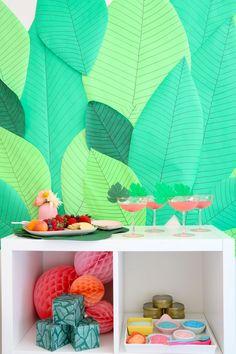 DIY Tropical Spa Birthday Party