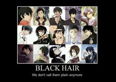 Black haired anime guys :)
