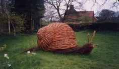 Making willow sculptures is fairly straight forward for everyone to do, but it does help if you have a good visual memory and spatial awareness. I started because I'd been pruning some honeysuckle … Land Art, Willow Garden, Living Willow, Twig Art, Willow Weaving, Willow Branches, Metal Garden Art, Outdoor Art, Environmental Art