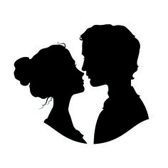 Creative man and woman silhouettes vector set 07 - Vector People ...