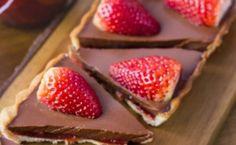 Tarteleta de chocolate y frutillas 100% vegana y deliciosa