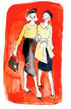 Fashion friends #watercolor #art #illustration