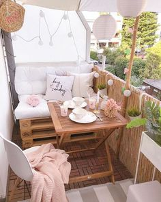 Balcony decoration - decorative suggestions & trends, DIY-I - small balcony ideas . - Balcony decoration – decoration suggestions & trends, DIY-I – small balcony ideas # Ba - Small Balcony Furniture, Small Balcony Decor, Outdoor Furniture Sets, Outdoor Decor, Small Patio, Balcony Ideas, Patio Ideas, Furniture Legs, Garden Furniture